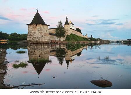 Rusland Kremlin zomer architectuur witte geschiedenis Stockfoto © borisb17