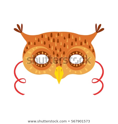 Uil vogel carnaval masker kinderachtig element Stockfoto © robuart