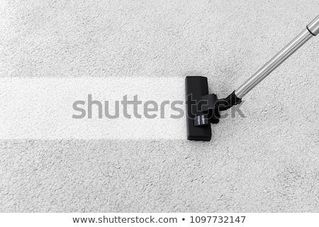 Aspirador de pó tapete pessoa limpeza casa Foto stock © AndreyPopov