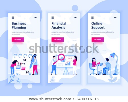 Financial Accounting Vector Onboarding Stock photo © pikepicture