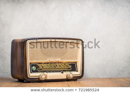 vintage · radio · bellen · technologie · achtergrond - stockfoto © lichtmeister