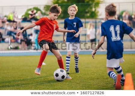 дети · играть · Футбол · игры · детей · Открытый - Сток-фото © matimix