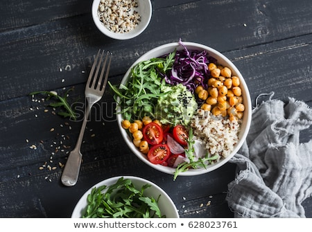 Foto stock: Vegan · buda · tigela · legumes · arroz · coco