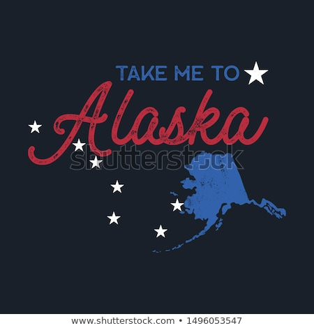 Vintage Alaska map badge. Retro style US state patch concept, print for t-shirt and other uses. Incl Stock photo © JeksonGraphics