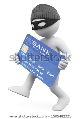3d thief holding credit card Stock photo © 3dmask
