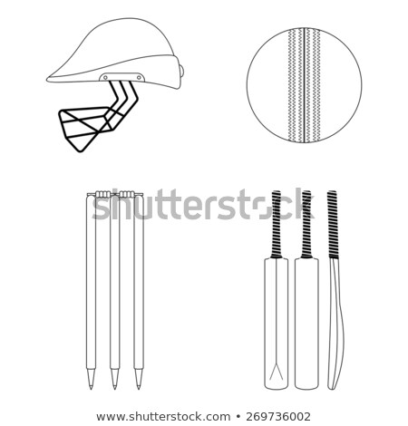 Cricket Equipment Icon Vector Outline Illustration stock photo © pikepicture
