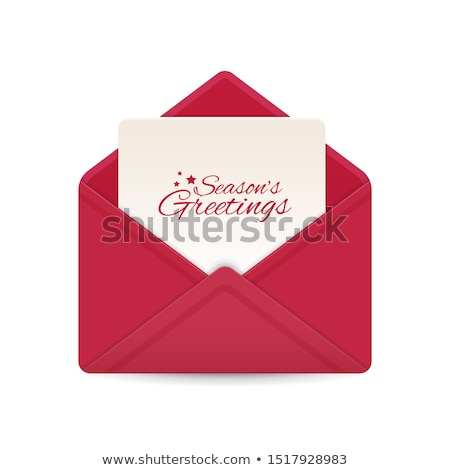 holiday card and envelope stock photo © jsnover