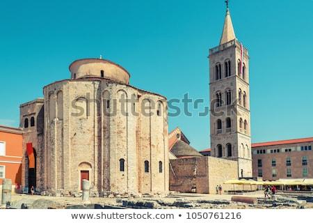 Templom Horvátország szimbólum város híres monumentális Stock fotó © borisb17