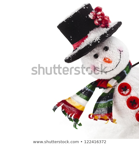 Snowman made from Snowballs, Winter Holiday Decor Stock photo © robuart