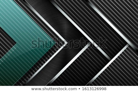 Vector tech background. Stack of carbon fiber material layer with chrome stripe edge Stock photo © Iaroslava