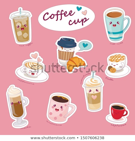 I Love Coffee, Types of Hot Beverage with Heart Stock photo © robuart