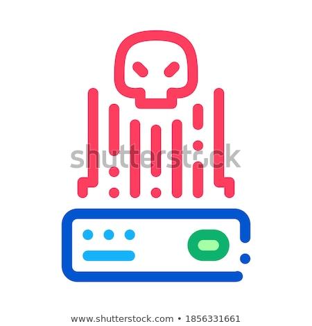 Hacker irányítás ikon vektor skicc illusztráció Stock fotó © pikepicture