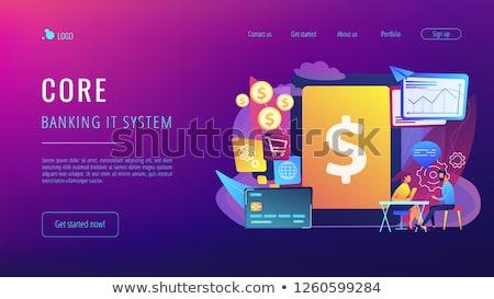 Kern bancaire landing pagina tablet Stockfoto © RAStudio