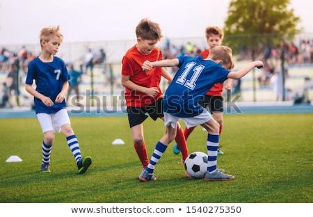 小さな 男の子 演奏 フットボールの試合 プレーヤー ストックフォト © matimix