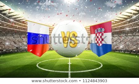 Russia vs Croatia football match Stock photo © olira
