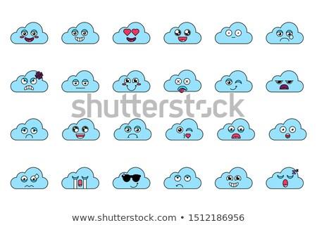 Bulut örnek mutlu ifade Stok fotoğraf © barsrsind