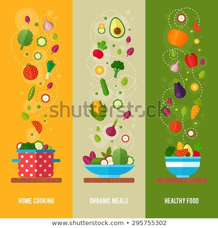 精進料理 ブロッコリー 広告 バナー ベクトル 自然 ストックフォト © pikepicture