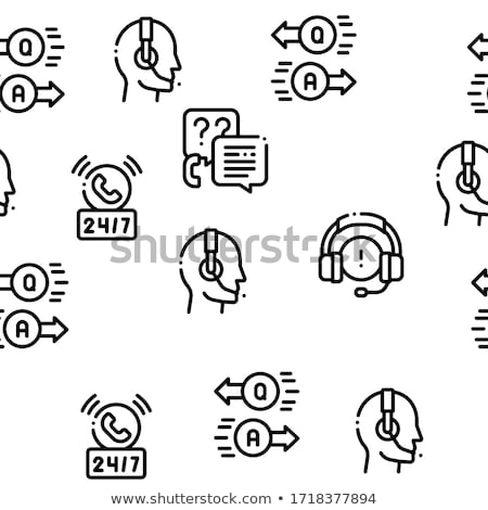Telemarketing Sale Seamless Pattern Vector Stock photo © pikepicture