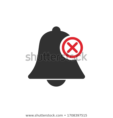 deactivated notifications bell icon. Not active alarm on your devices with cross on bell. Stock Vect Stock photo © kyryloff