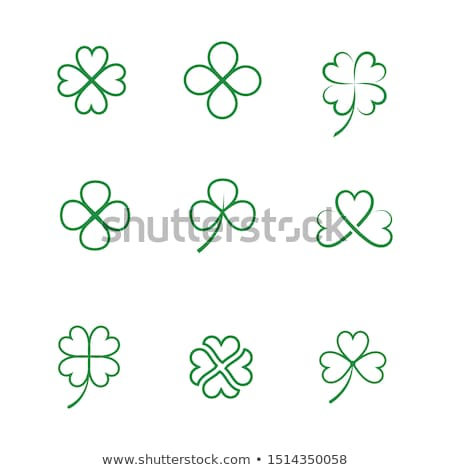 Green Clover Leaf  icon Template Stock photo © Ggs