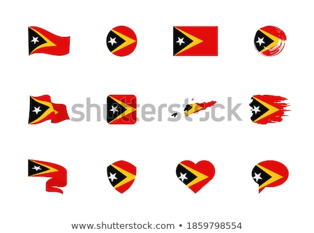 National flag of the East Timor in the shape of a heart and the inscription I love East Timor. Vecto Stock photo © butenkow