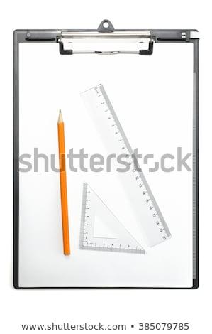 Papel triângulo governante lápis fino Foto stock © yupiramos
