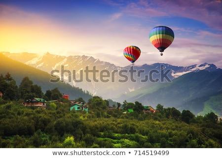 Tájkép India út több alföld hegy Stock fotó © dmitry_rukhlenko