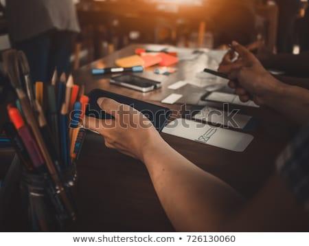 Ui disenador llamando oficina negocios Foto stock © dolgachov
