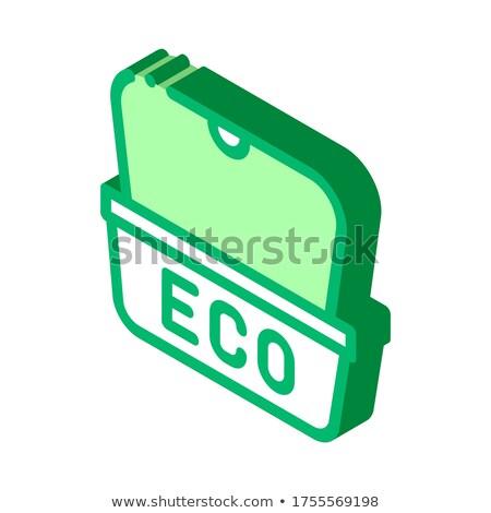 öko anyag csomag utcai étel izometrikus ikon Stock fotó © pikepicture