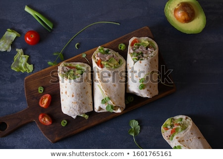 desayuno · carne · de · vacuno · cena · carne · tomate · comida - foto stock © stephaniefrey