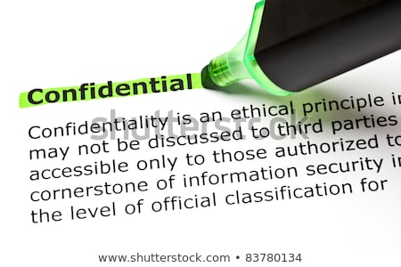 Stock photo: Confidential Highlighted In Green