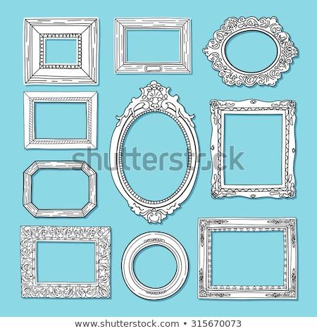 Сток-фото: фоторамка · багет · бумаги · стены · аннотация · мебель