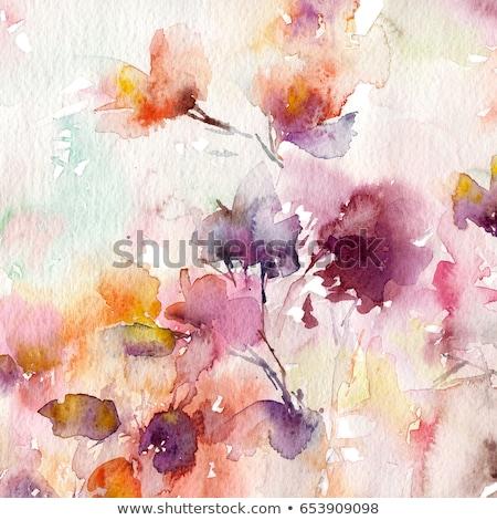 çiçek · vektör · soyut · model · şeffaf · dizayn - stok fotoğraf © orson