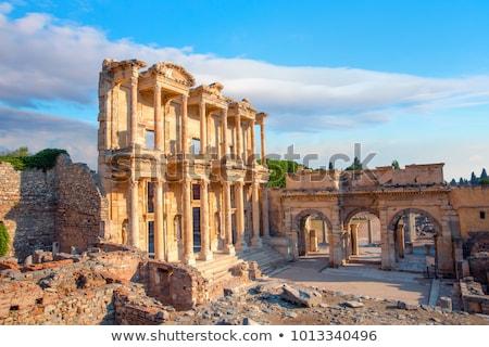 Turquia · velho · ruínas · cidade · moderno · dia - foto stock © Forgiss
