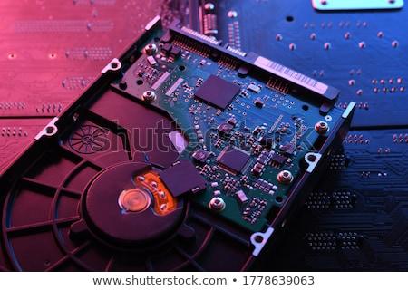 Close up of open hard disk Stock photo © gewoldi