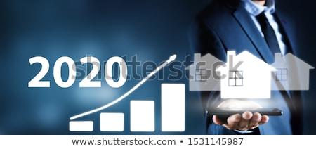 Działalności wykresy człowiek domu zielone Zdjęcia stock © rufous