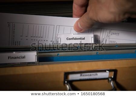 Confidencial documento trancar arquivo dobrador Foto stock © devon