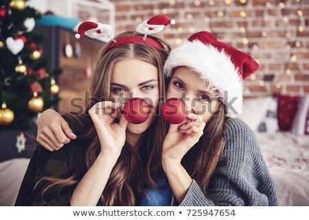 deux · sexy · beauté · jeunes · femmes · isolé · visage - photo stock © feedough