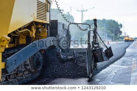 Сток-фото: асфальт · машина · работник · автомобилей · здании