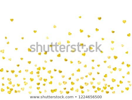valentine in golden heart stock photo © marinini