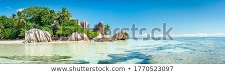 La Seychelles acqua panorama mare faro Foto d'archivio © phbcz