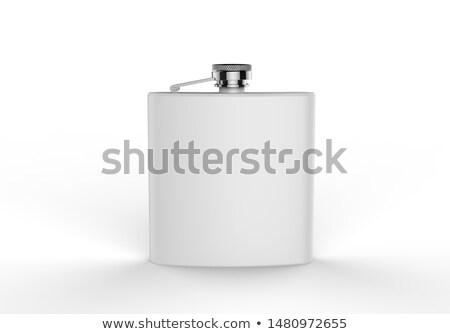 roestvrij · staal · metaal · witte · bierfles · exemplaar · ruimte - stockfoto © ozaiachin