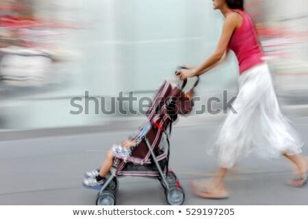 Absztrakt nagy város csúcsforgalom mozgás elmosódott Stock fotó © photocreo