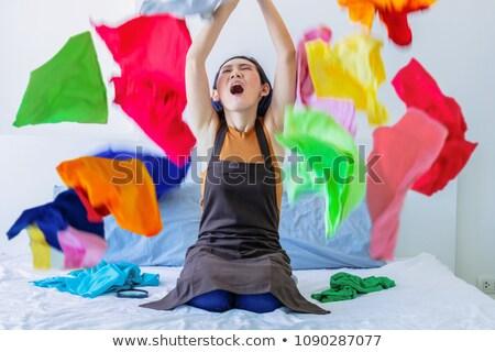женщину скучный очистки время скучно мыть Сток-фото © smithore