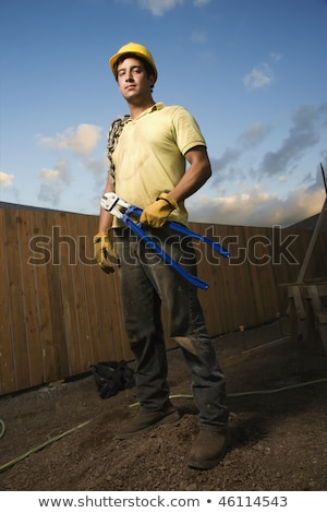 Male construction worker with bolt cutters Stock photo © photography33