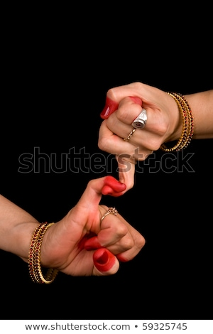 Foto stock: Indiano · dançar · mulher · mão · clássico