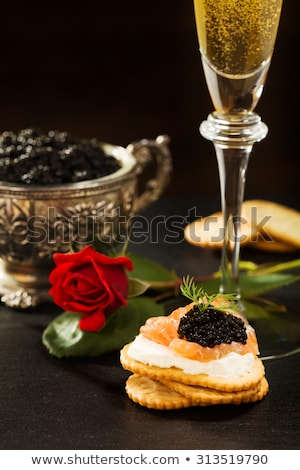 caviar on crackers stock photo © stevemc