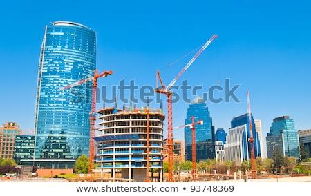építkezés felhőkarcoló Santiago Chile modern építészet dél-amerika Stock fotó © Spectral
