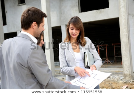 family visiting construction site stock photo © photography33