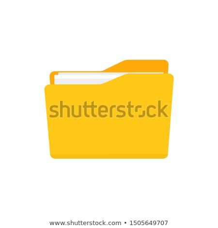 オレンジ · フォルダ · ファイル · 孤立した · 白 · ビジネス - ストックフォト © johanh